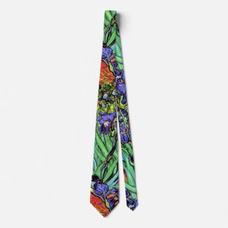 Vincent Van Gogh - Irises - Flower Lover Fine Art Neck Tie