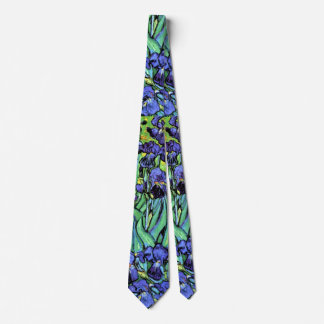 Vincent Van Gogh - Irises - Flower Lover Fine Art Neck Tie