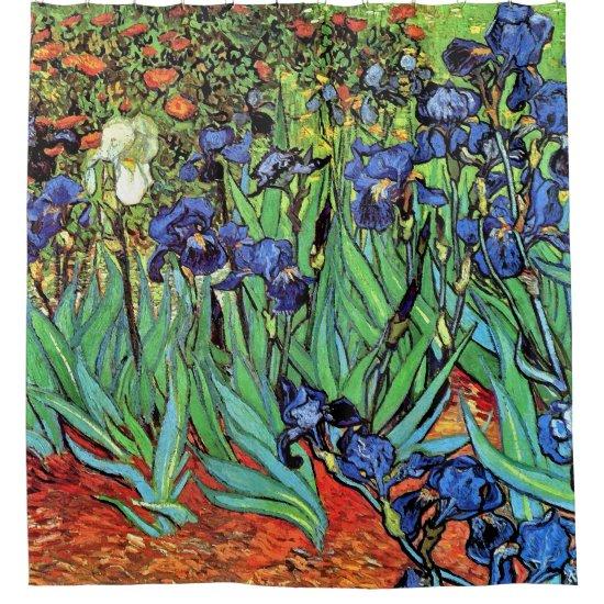 Vincent Van Gogh - Irises - Flower Lover Fine Art Shower Curtain
