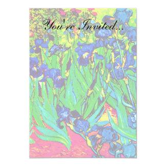 Vincent Van Gogh - Irises - Flower Lover Pop Art Card