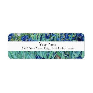 Vincent van Gogh, Irises Label