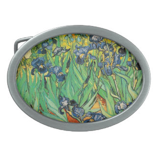 Vincent van Gogh,Irises Oval Belt Buckle