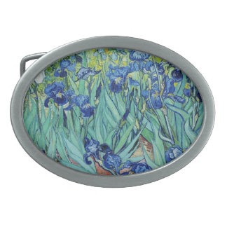 Vincent van Gogh Irises. Oval Belt Buckle