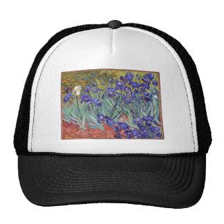 Vincent van Gogh Irises Painting Artwork Art Print Hats