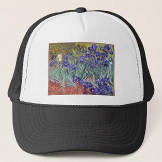 Vincent van Gogh Irises Painting Artwork Art Print Trucker Hat