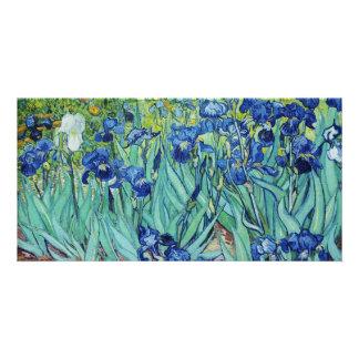 Vincent van Gogh, Irises. Personalized Photo Card