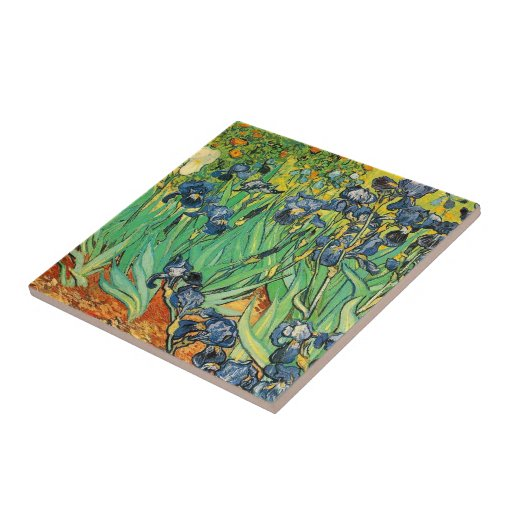 Vincent van Gogh,Irises Small Square Tile