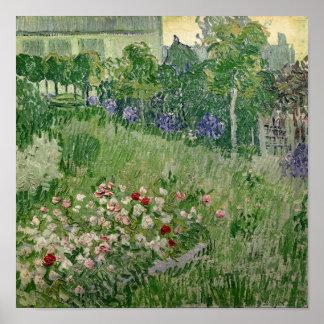 Vincent van Gogh jardín del   Daubigny, 1890 Póster