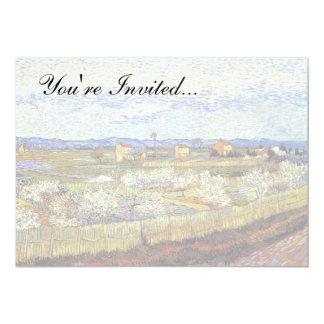 Van Gogh Peach Tree Invitations & Announcements   Zazzle