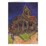 Vincent van Gogh - la iglesia en Auvers Tarjeta Pequeña