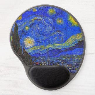 Vincent van Gogh - la noche estrellada (1889) Alfombrilla Para Ratón De Gel