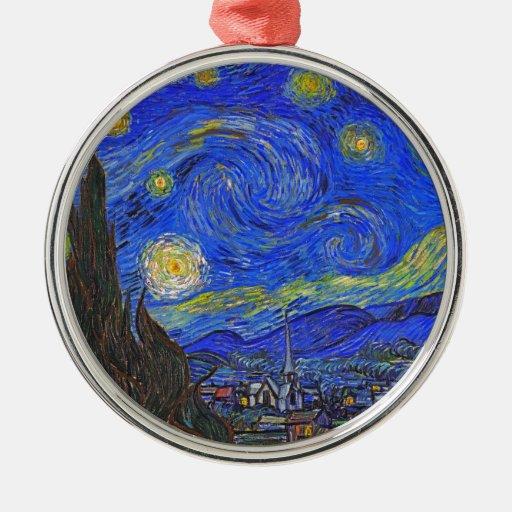 Vincent van Gogh - la noche estrellada (1889) Ornamentos De Navidad