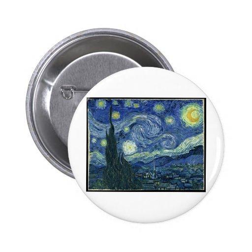 Vincent van Gogh - la noche estrellada (1889) Pin