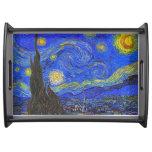 Vincent van Gogh - la noche estrellada (1889) Bandejas