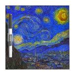 Vincent van Gogh - la noche estrellada (1889) Pizarras Blancas