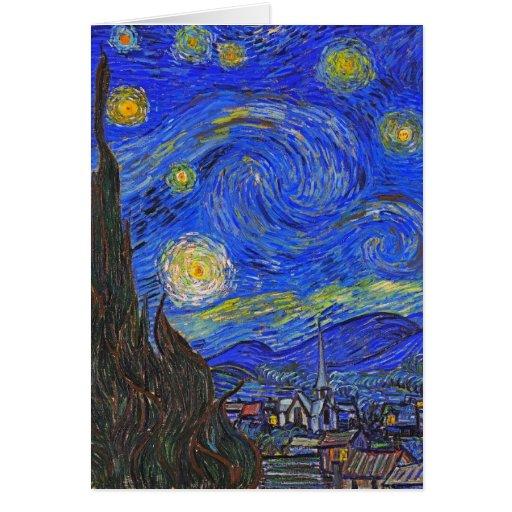 Vincent van Gogh - la noche estrellada (1889) Tarjeta De Felicitación