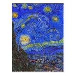 Vincent van Gogh - la noche estrellada (1889) Postal