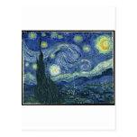 Vincent van Gogh - la noche estrellada (1889) Postales