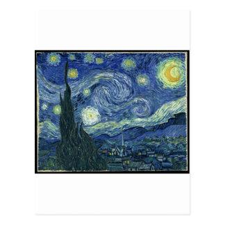 Vincent van Gogh - la noche estrellada 1889 Postales