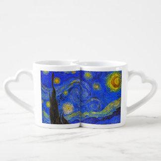 Vincent van Gogh - la noche estrellada (1889) Taza Para Enamorados