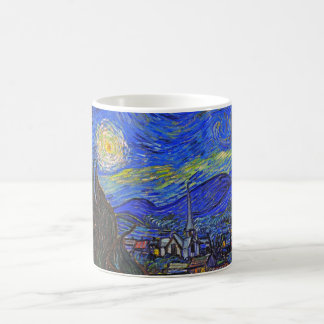 Vincent van Gogh - la noche estrellada (1889) Taza Clásica