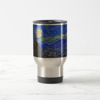 Vincent van Gogh - la noche estrellada (1889) Taza Térmica