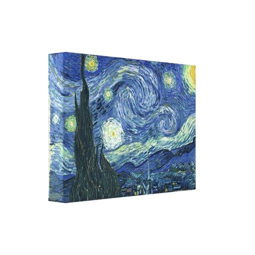Vincent van Gogh la noche estrellada Impresión En Lienzo Estirada