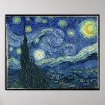 Vincent van Gogh la noche estrellada Poster
