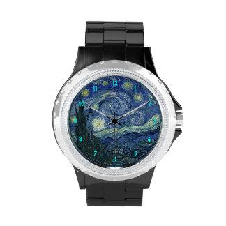 Vincent van Gogh la noche estrellada Reloj De Mano