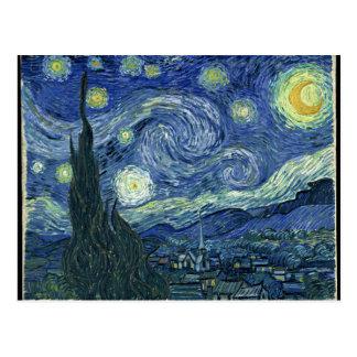 Vincent van Gogh la noche estrellada Tarjetas Postales