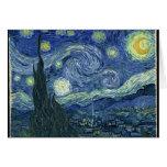 Vincent van Gogh la noche estrellada Tarjetón