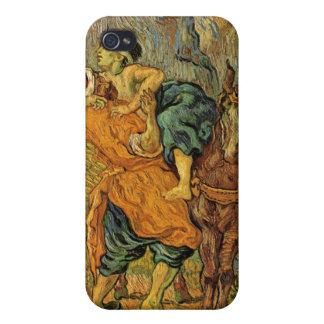 Vincent van Gogh - la pintura del buen samaritano iPhone 4 Fundas