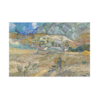 Vincent van Gogh - Landscape at Saint-Remy Canvas Print