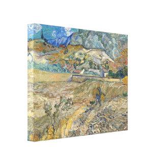 Vincent Van Gogh Landscape At Saint-Remy Fine Art Canvas Print