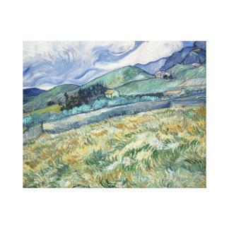 Vincent van Gogh - Landscape from Saint-Remy Canvas Print