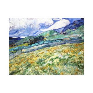 Vincent van Gogh Landscape from Saint-Remy Canvas Print