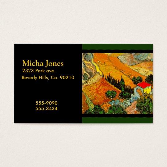 Vincent Van Gogh Landscape & House Enhanced Business Card