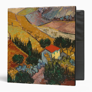 Vincent van Gogh   Landscape w/ House & Ploughman 3 Ring Binder