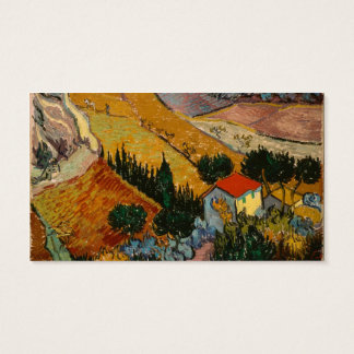 Vincent van Gogh | Landscape w/ House & Ploughman Business Card