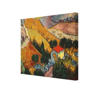 Vincent van Gogh | Landscape w/ House & Ploughman Canvas Print