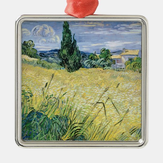 Vincent van Gogh | Landscape with Green Corn, 1889 Metal Ornament