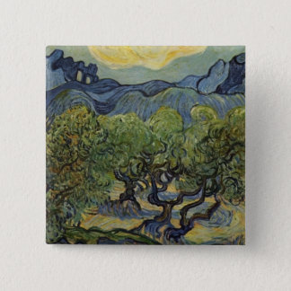Vincent van Gogh - Landscape with Olive Trees Button