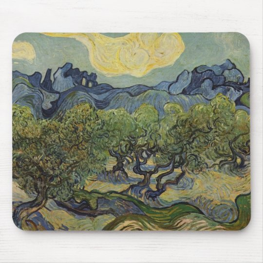 Vincent van Gogh - Landscape with Olive Trees Mouse Pad