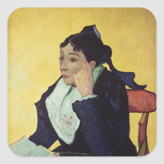 Vincent van Gogh   L'Arlesienne  1888 Square Sticker