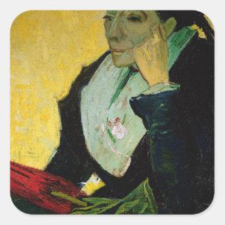 Vincent van Gogh   L'Arlesienne, detail, 1888  Square Sticker