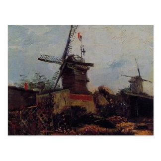 vincent van gogh - le moulin de blute-fin postcard