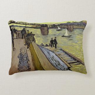 Vincent van Gogh   Le Pont de Trinquetaille Arles Decorative Pillow