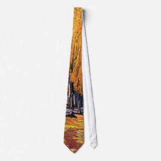 Vincent Van Gogh - Les Alyscamps Autumn Landscape Neck Tie