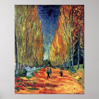 Vincent van Gogh - Les Alyscamps Póster