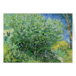 Vincent van Gogh - lilas Tarjeta De Felicitación